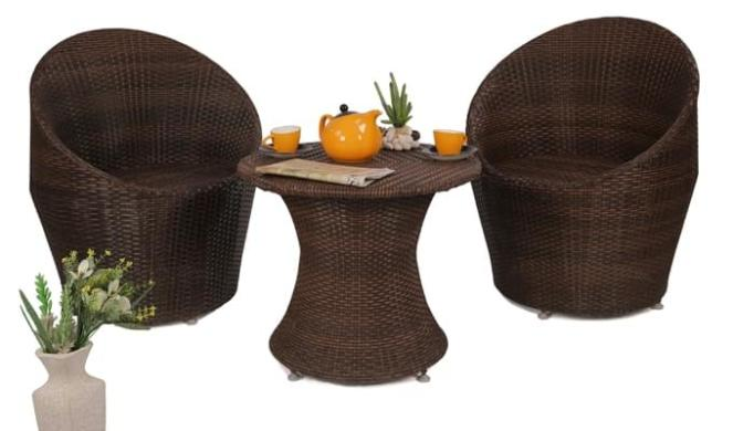 Lucia Balcony Seating (Chocolate Brown)