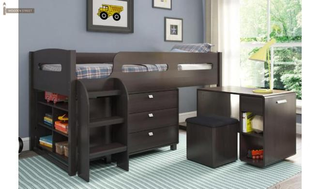 Lucifer Kids Bed With Storage (Walnut Finish)