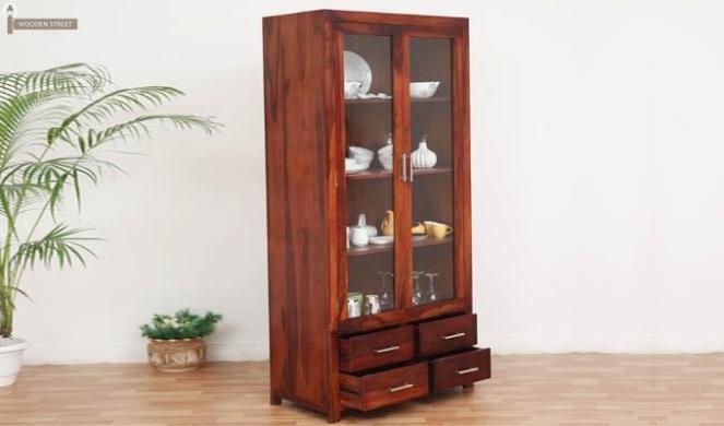Markel Kitchen Cabinet (Honey Finish)