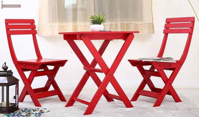 Myrick Balcony Table And Chair Set (Red)