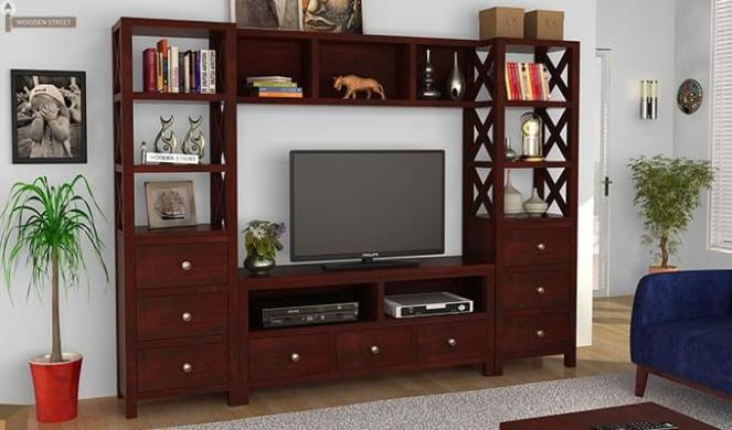 Pippin Tv Unit (Mahogany Finish)
